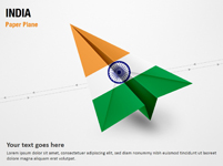 Paper Plane with India Flag