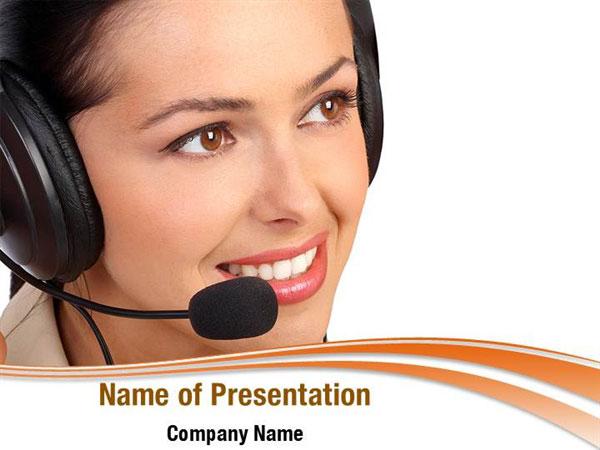 Modern Call Center PowerPoint Templates - Modern Call Center