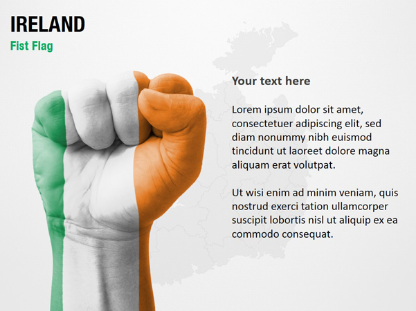 Ireland Fist Flag