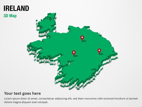 Map Of Ireland 3d.Ireland 3d Map Powerpoint Map Slides Ireland 3d Map Map Ppt Slides Powerpoint Map Slides Of Ireland 3d Map Powerpoint Map Templates