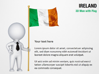 3D Man with Ireland Flag