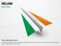 Paper Plane with Ireland Flag