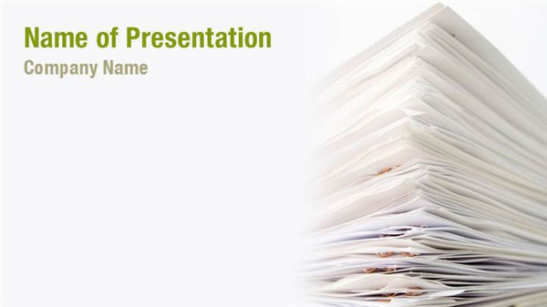 stack of papers powerpoint templates