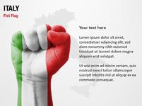Italy Fist Flag