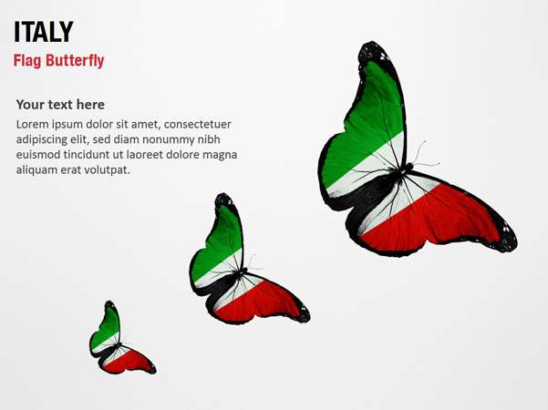 Italy Flag Butterfly