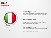 Italy Flag Pointer