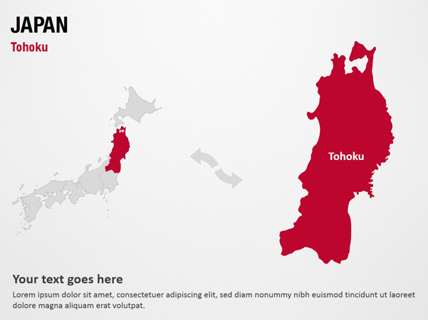 Tohoku Tohoku Japan Powerpoint Map Templates