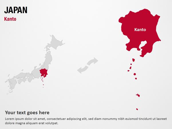 Kanto Japan Powerpoint Map Templates Digitalofficepro