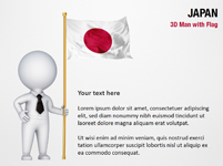 3D Man with Japan Flag