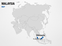 Malaysia on World Map