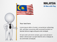 3D Man with Malaysia Flag
