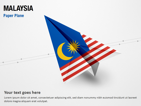 Paper Plane with Malaysia Flag