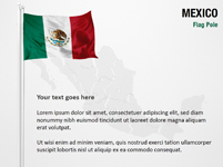 Mexico Flag Pole