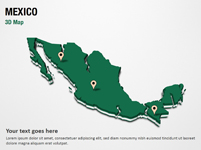 Mexico 3D Map