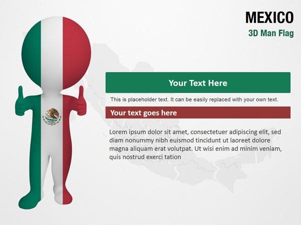 Mexico 3D Man Flag