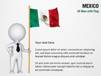 3D Man with Mexico Flag