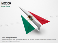 Paper Plane with Mexico Flag