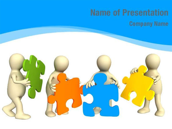 Pieces of Puzzle PowerPoint Template Backgrounds