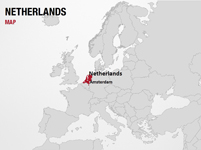 Netherlands on World Map