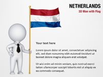 3D Man with Netherlands Flag