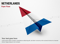 Paper Plane with Netherlands Flag
