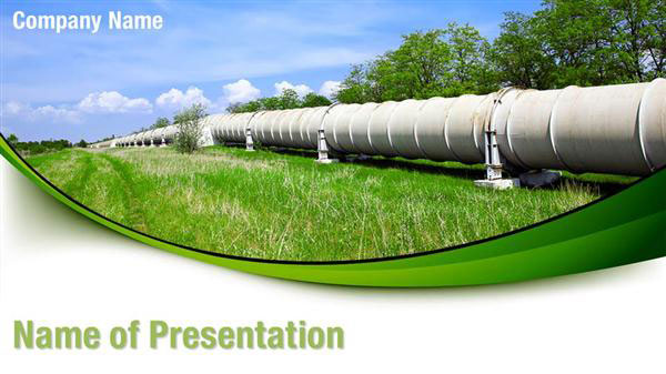 Pipeline PowerPoint Template Backgrounds