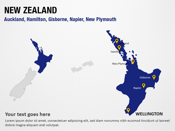 Where Is New Plymouth In New Zealand Map.Auckland Hamilton Gisborne Napier New Plymouth New Zealand Powerpoint Map Slides Auckland Hamilton Gisborne Napier New Plymouth New