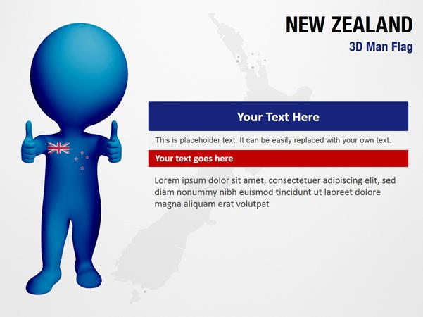 New Zealand 3D Man Flag