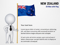 3D Man with New Zealand Flag