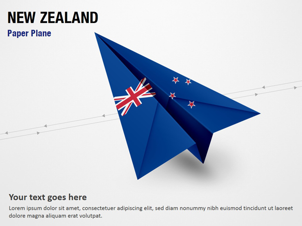 Paper Plane with New Zealand Flag