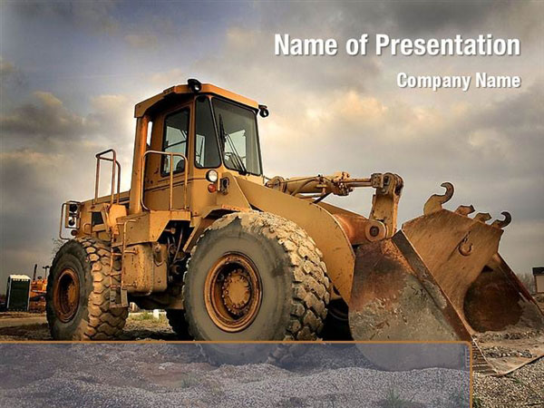 Heavy Construction Equipment Powerpoint Templates Heavy
