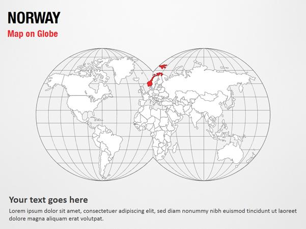 Norway Map on Globe