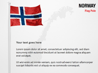 Norway Flag Pole