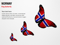 Norway Flag Butterfly