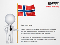 3D Man with Norway Flag