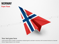 Paper Plane with Norway Flag