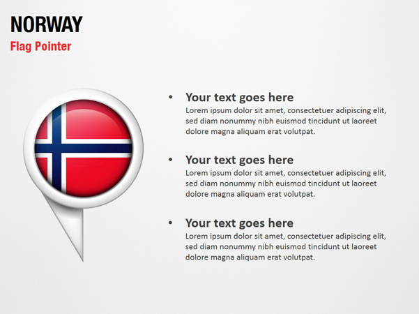 Norway Flag Pointer
