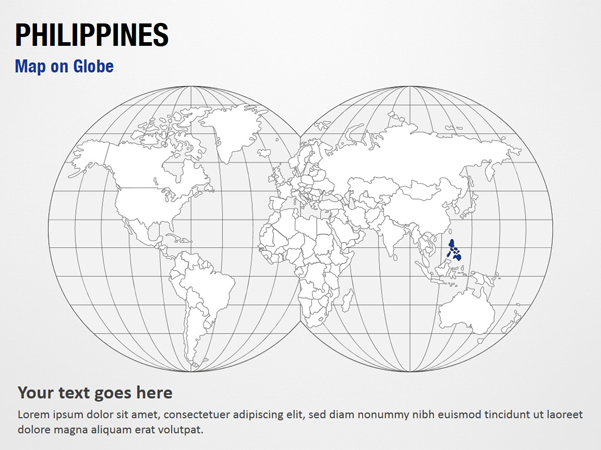 Philippines Map on Globe