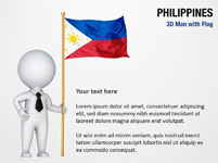 3D Man with Philippines Flag