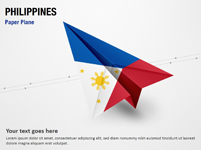 Paper Plane with Philippines Flag