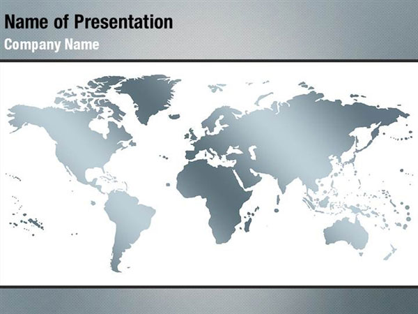World Map PowerPoint Template Backgrounds