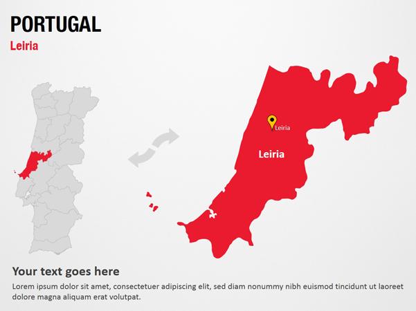 Leiria - Portugal PowerPoint Map Slides - Leiria ...