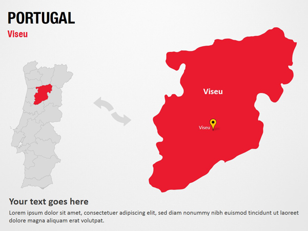 Viseu Portugal Map Image Mag - Portugal map viseu