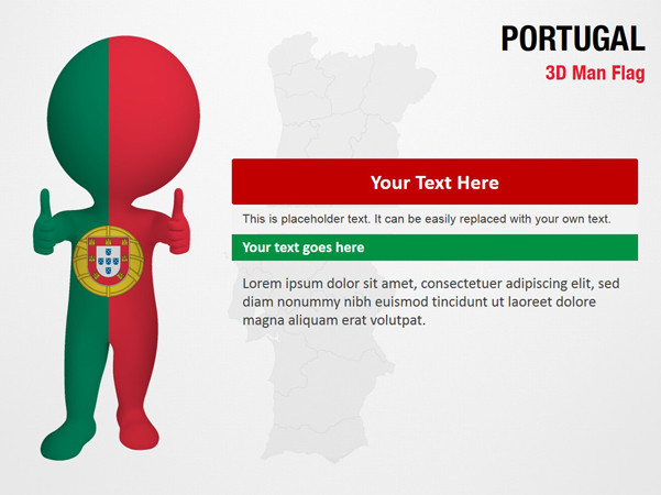 Portugal 3D Man Flag