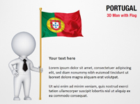 3D Man with Portugal Flag