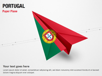 Paper Plane with Portugal Flag