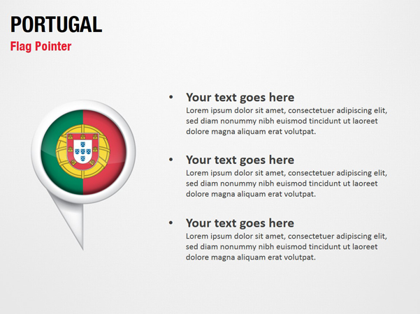 Portugal Flag Pointer