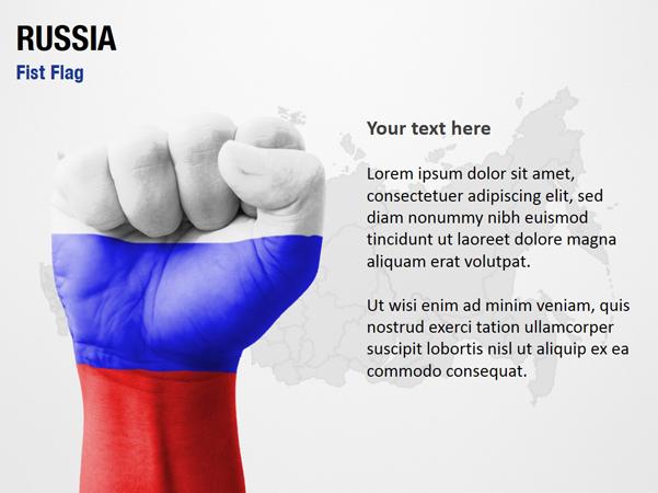 Russia Fist Flag