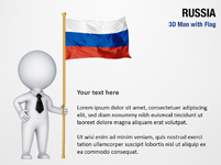 3D Man with Russia Flag