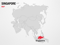 Singapore on World Map